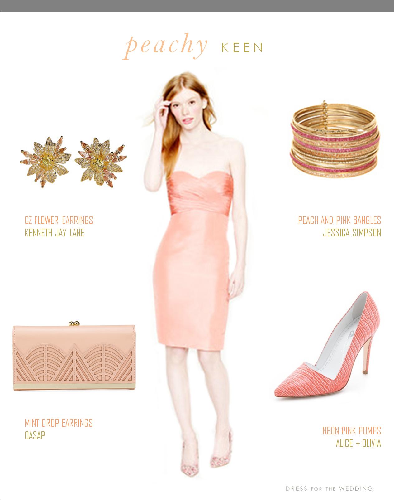 Peach Dress Dresses Special Occasion Dresses Bridesmaid Dresses