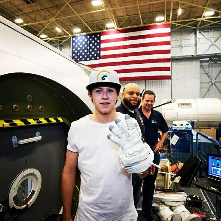Niall at the Nasa center in Houston, Texas last year