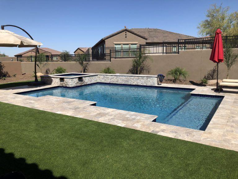 Pool History Backyard Pool Landscaping Pools Backyard Inground Arizona Pool Design