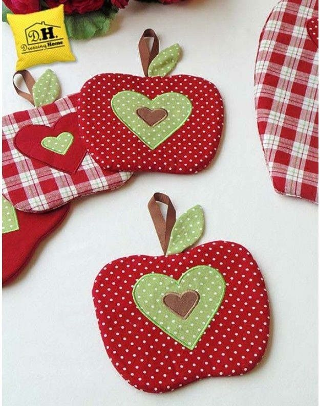 Cute apple pot holders | Potholders in 2018 | Pinterest | Apples ...