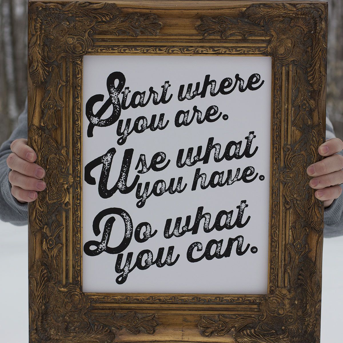 start where you are use what you have do what you can - Why Do You Want To Be A Social Worker