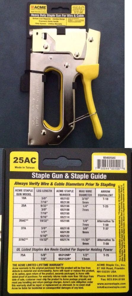 Nail and Staple Guns 122828: New Acme Staple 654025Ac Staple Gun With Bottom-Load Magazine Crown 1 4 6Mm -> BUY IT NOW ONLY: $35 on eBay!