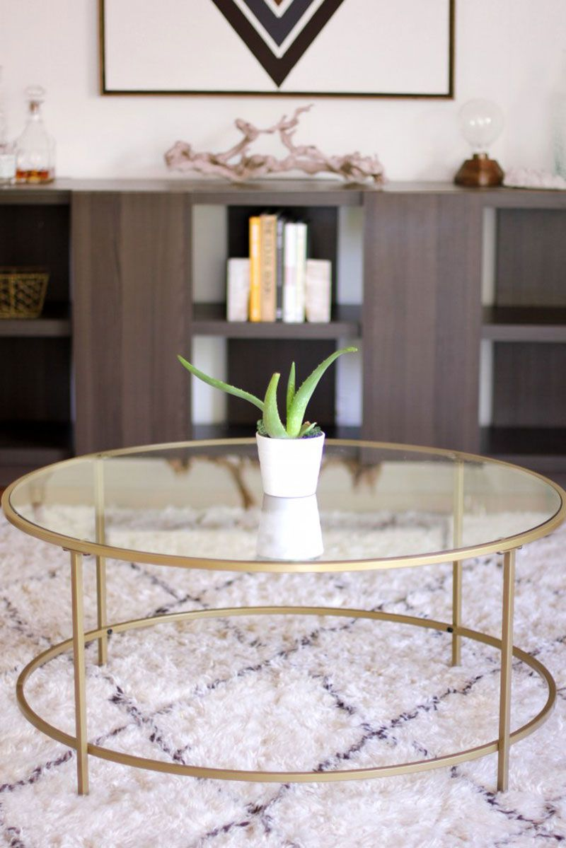 12 Round Coffee Tables We Love Round glass coffee table