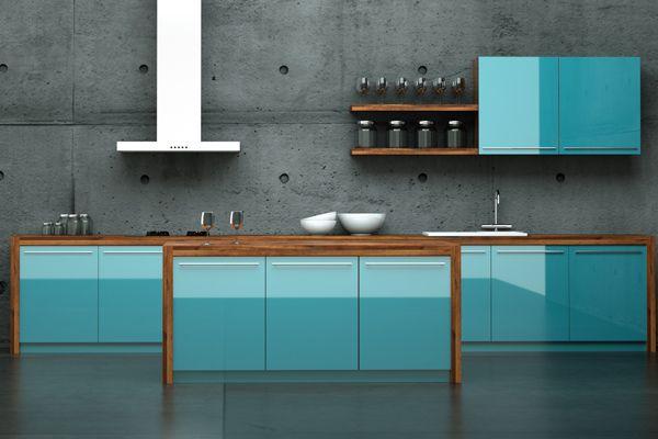 moderne, blaue küche | rooms | pinterest | blau, küche und wohnideen, Modernes haus