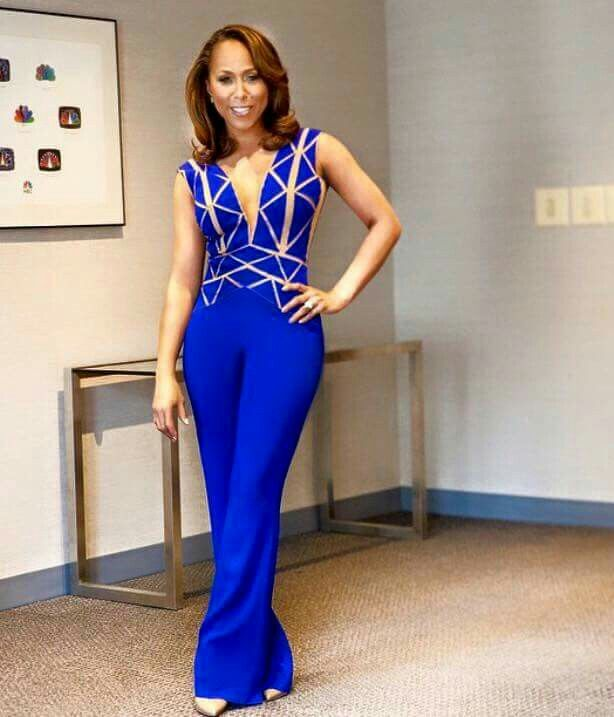 Dazzling blue jumpsuit
