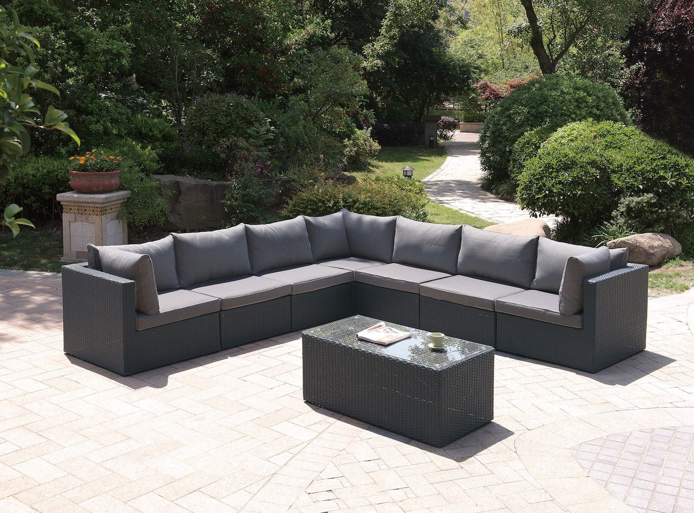 Best 8 Piece Sectional Seating Group With Cushions Outdoor 640 x 480