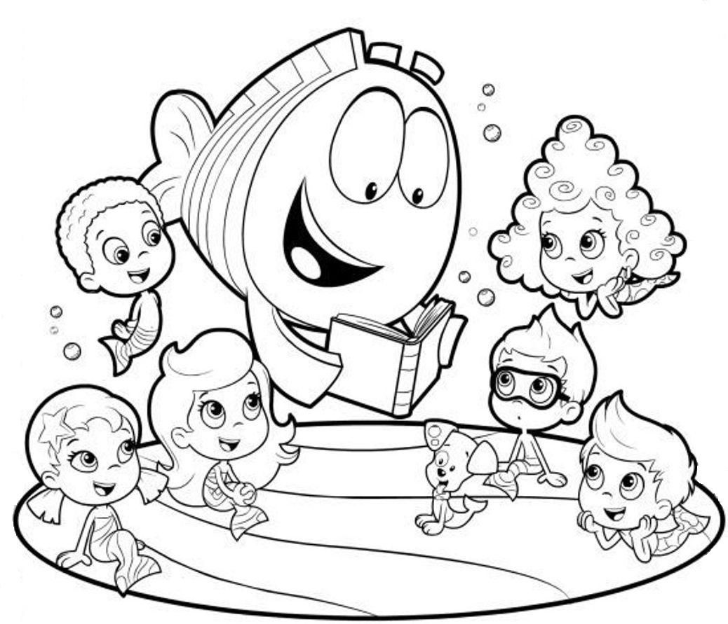 Adorable Bubble Guppies Coloring Pages Jpg 1038 891 Bubble Guppies Coloring Pages Nick Jr Coloring Pages Free Coloring Pages
