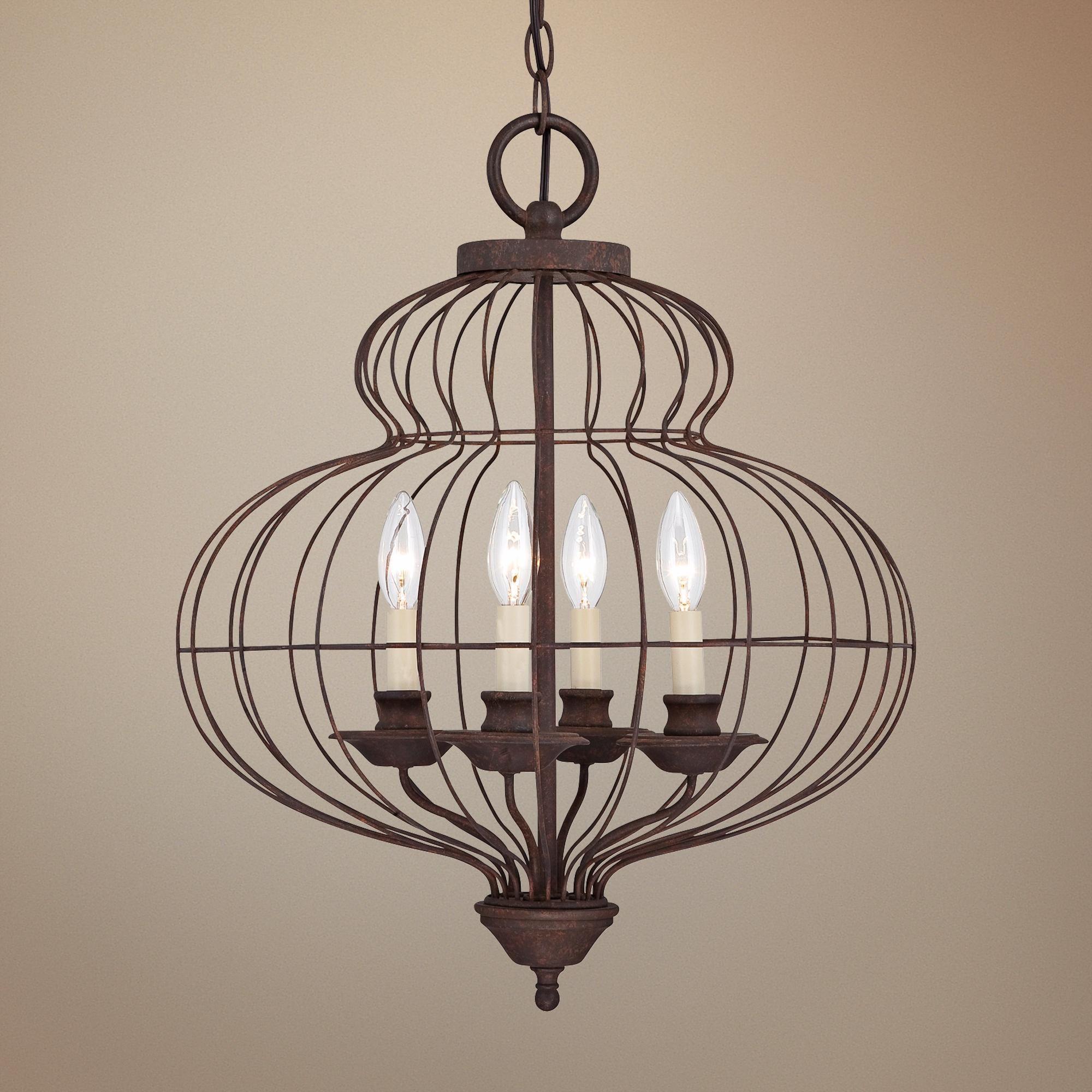 "Quoizel Laila 19"" Wide 4 Light Cage Chandelier"