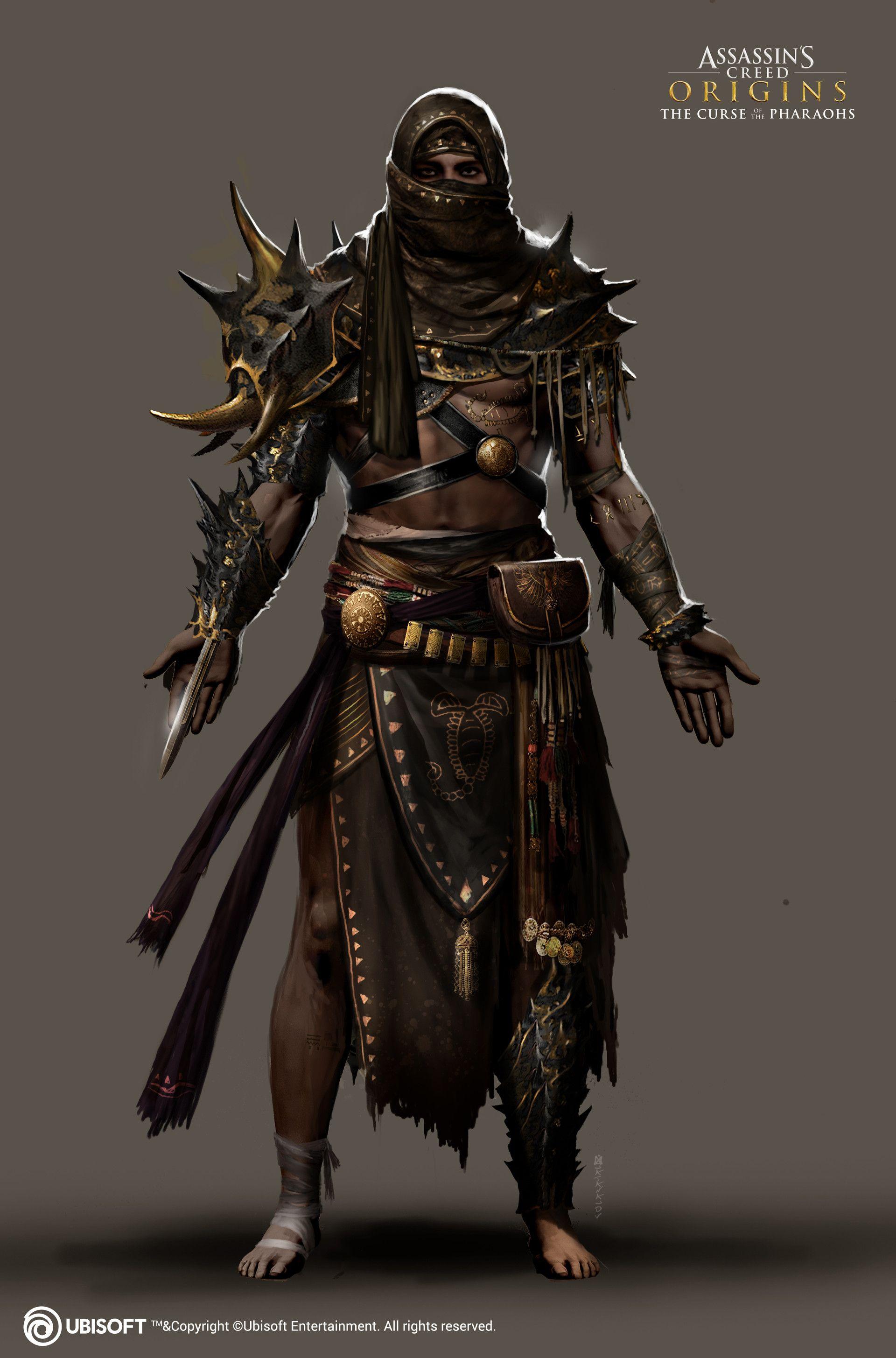 Artstation Scorpio Outfit Satanasov Assassins Creed Origins