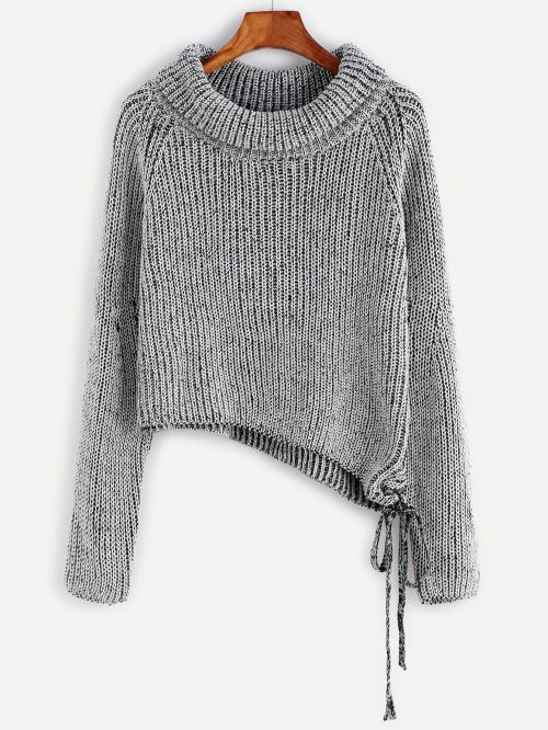 http://es.shein.com/Black-And-White-Marled-Raglan-Sleeve-Asymmetric-Sweater-p-324916-cat-1734.html  ☆ https://es.pinterest.com/iolandapujol/pins/ ☆ insta: @ iola_pujol / @iolastyle