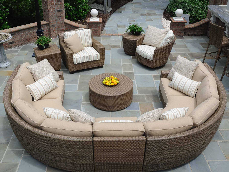 woodard whitecraft saddleback wicker sectional lounge set sectional patio furniture clearance patio furniture curved patio