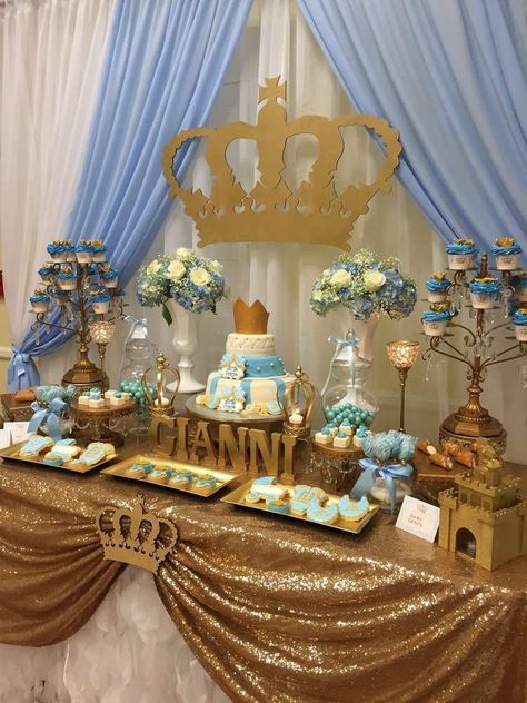 King Crown تقديمات ضيوف Baby Shower Princess Baby Shower Baby
