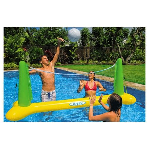 The Intex Inflatable Pool Volleyball Helps You Take The Water Fun Anywhere Swimming Pool Accessories Swimming Pool Games Swimming Pool Toys
