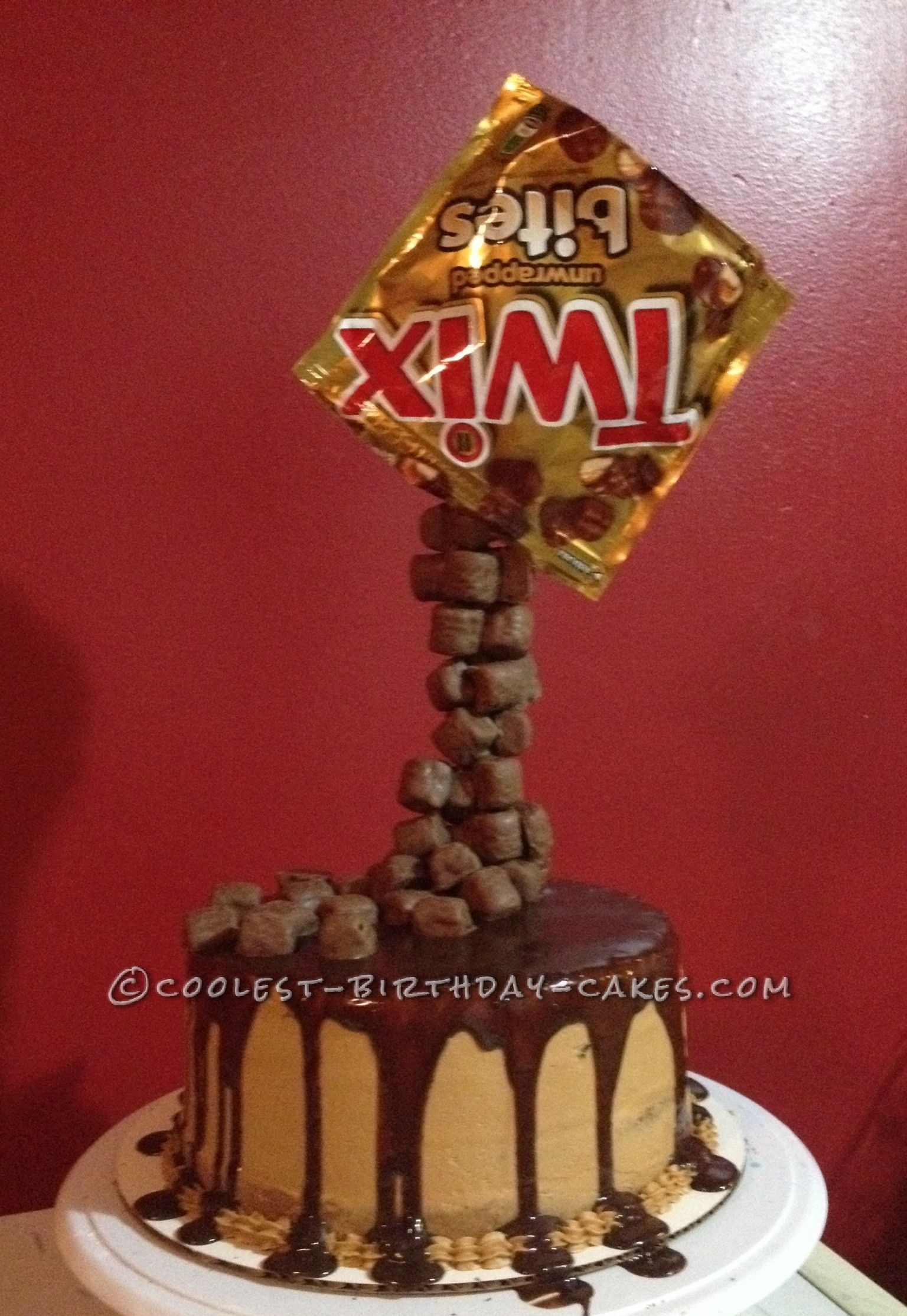 Fantastic Coolest Homemade Twix Anti Gravity Cake With Images Anti Funny Birthday Cards Online Inifofree Goldxyz