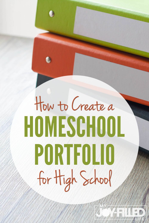 How to Create a Homeschool Portfolio for High School My