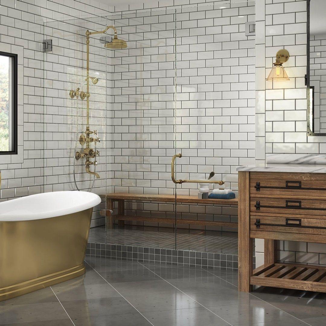 Kitchen Bath Industry Show On Instagram Beauty In Brass Bath Tub Americh Corp S Sawyer Bathtub Collecti In 2020 Kitchen And Bath Kitchen And Bath Design Bathtub