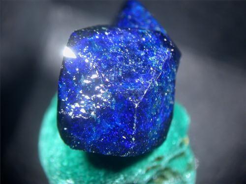 Azurite on Malachite ~ Czar Shaft, Bisbee, Cochise County, Arizona, United States of America