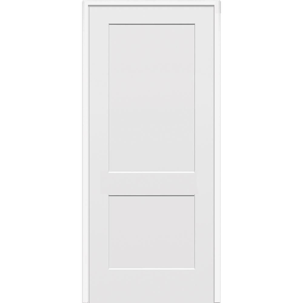 Mmi Door 32 In X 80 In 2 Panel Flat Square Sticking Primed