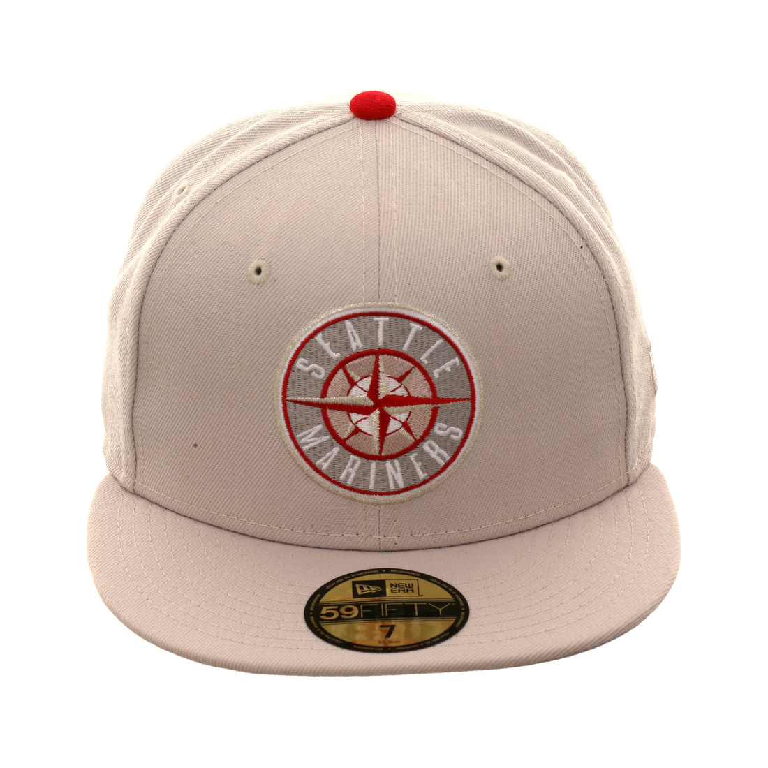 more photos f8b8f 7b78a Exclusive New Era 59Fifty Seattle Mariners Patch Hat - Stone, Red,   39.99