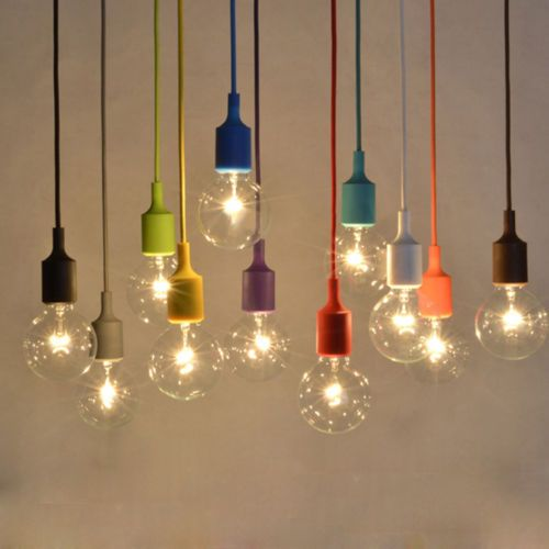 Colorful Silicone Lamp Holder E27 Bulb