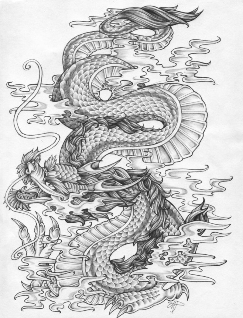 Dragon By Fleische On Deviantart Japanese Dragon Tattoos Dragon Tattoo Art Dragon Tattoo Designs
