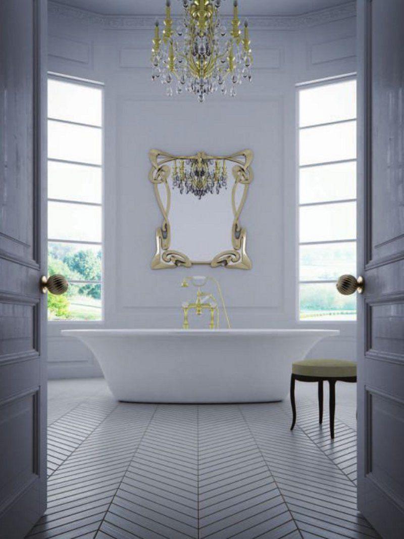Bathroom interior hd metropolitan by adonis pauli  great framed mirror in just the