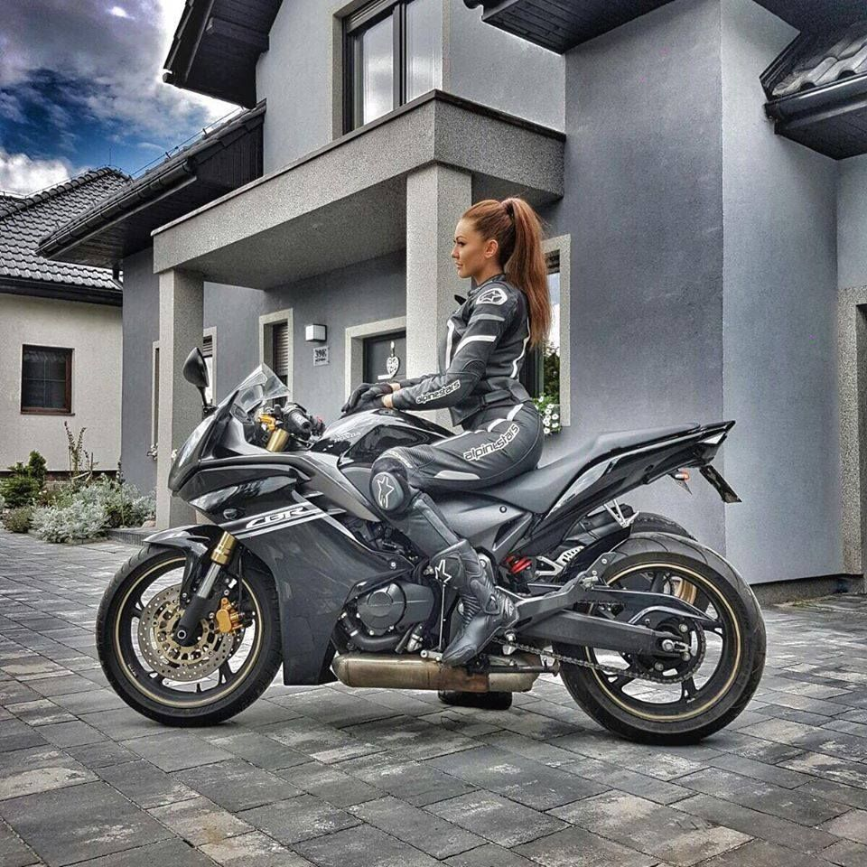 Motorcycle And Girl Photos