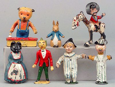 Some of my (very) old TV favourites, including Sooty, Hank and Silver King, Prudence Kitten, Mr Turnip and Andy Pandy