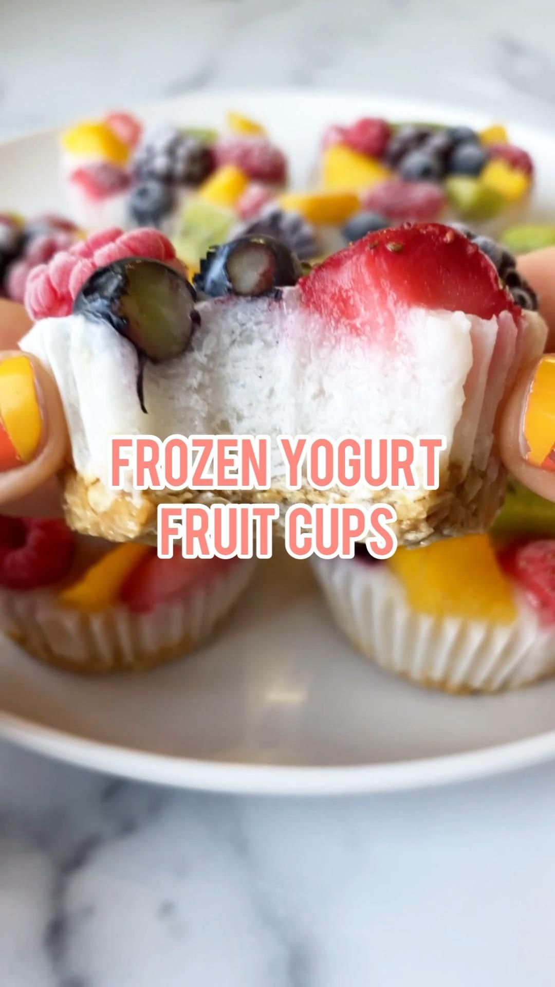 Frozen Yogurt Fruit Cups- Vegan and Gluten Free -