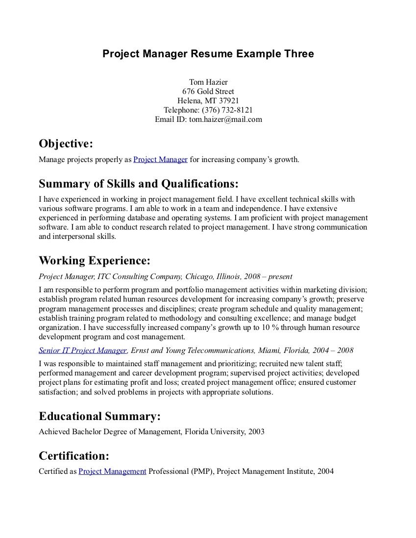 Resume Objective Statement Resume Pinterest Sample Resume