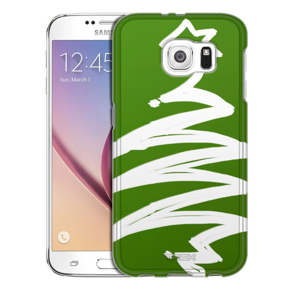 Samsung Galaxy S6 White Painted Tree on Green Trans Case