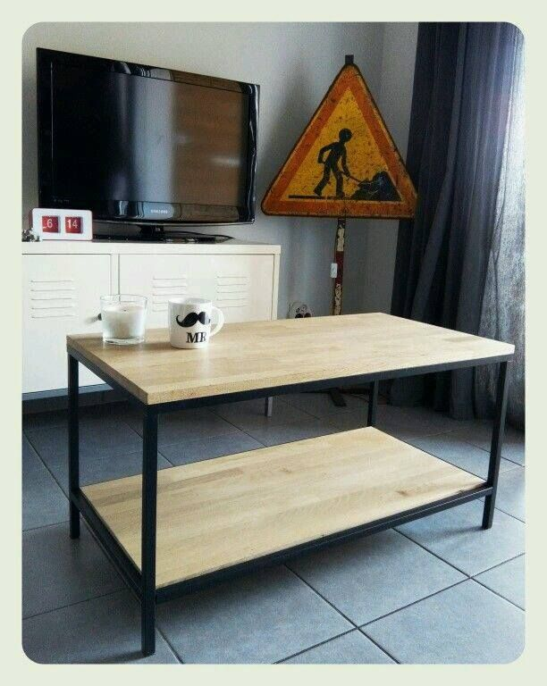 transformation d une table vittsj bidouilles ikea. Black Bedroom Furniture Sets. Home Design Ideas