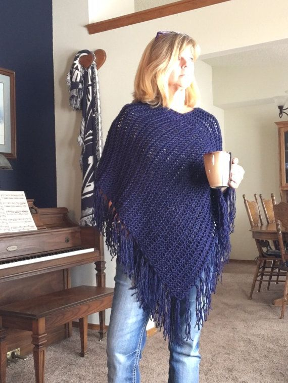 Magpie Poncho A Loom Knit Pattern By Daynascolesdesigns On Etsy