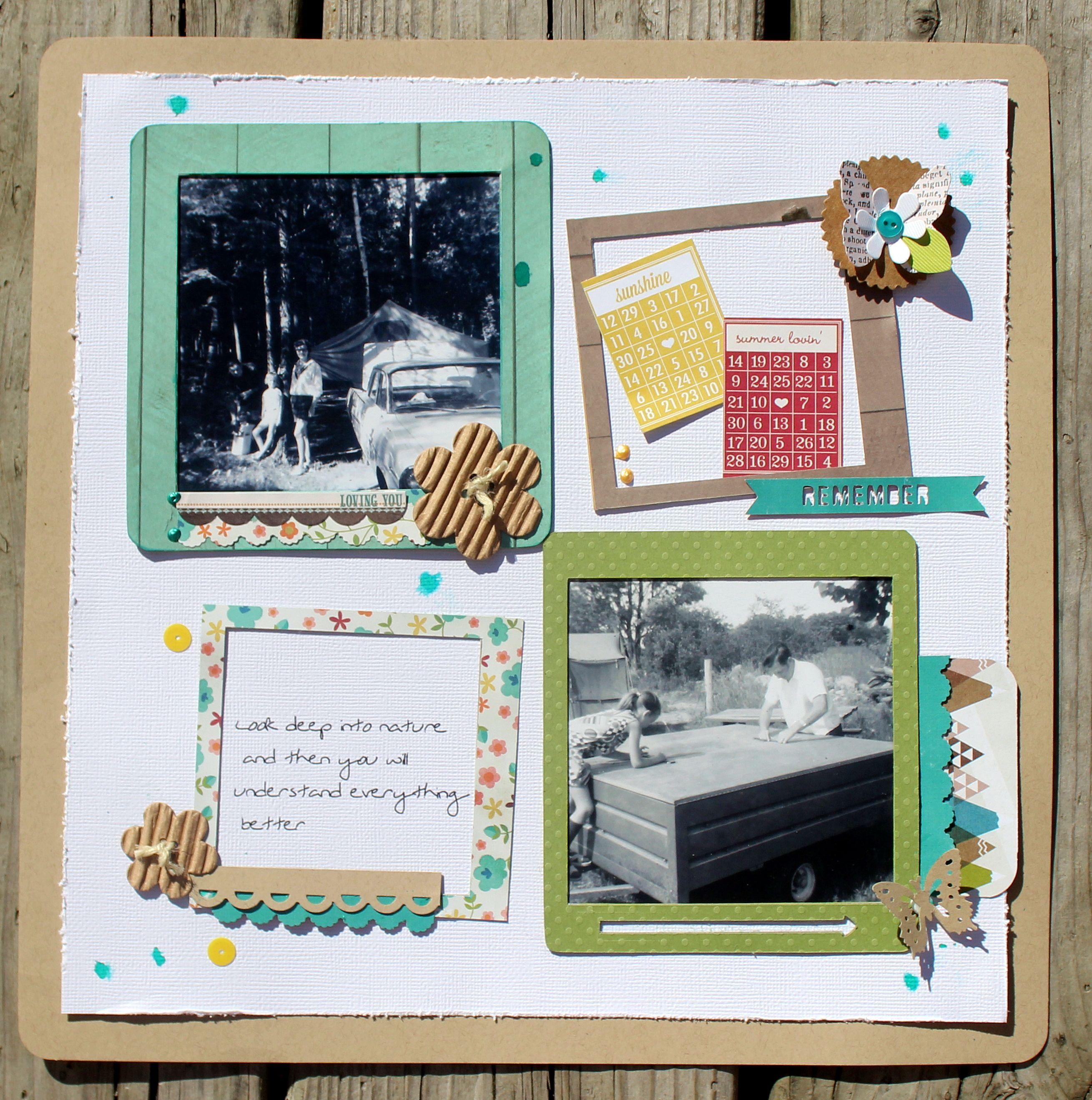 Happy Camper - Scrapbook.com | The Great Outdoors | Pinterest