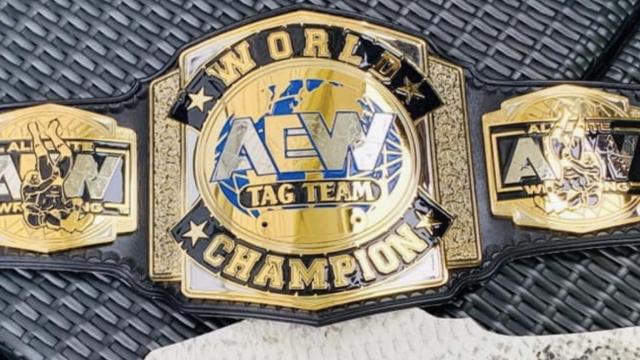 Aew Tag Team Titles Pay Tribute To Jerry Lynn With Side Plates Wwe Belts Awa Wrestling Wrestling