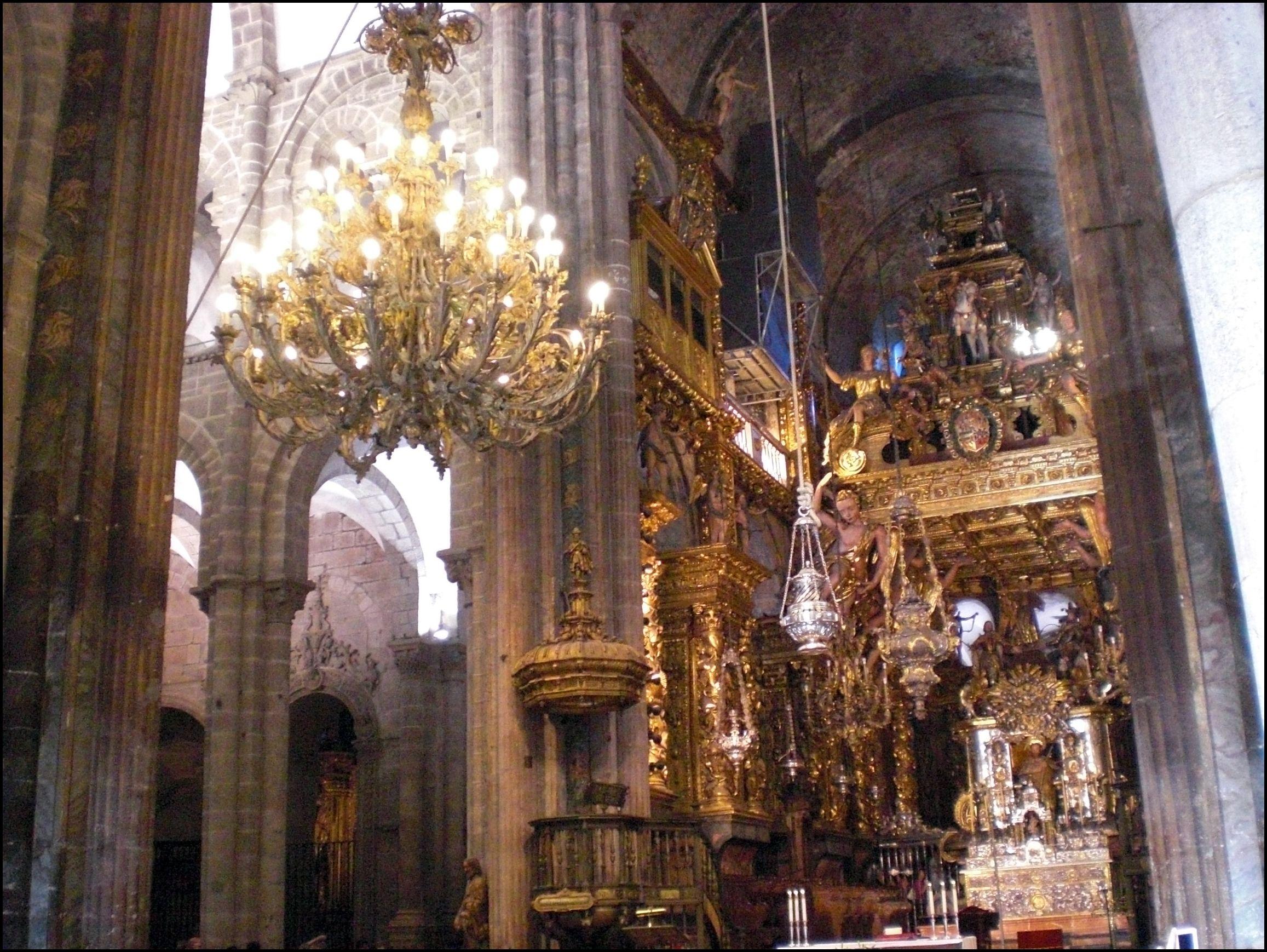 Interior catedral santiago de compostela turismo en - Interior santiago de compostela ...