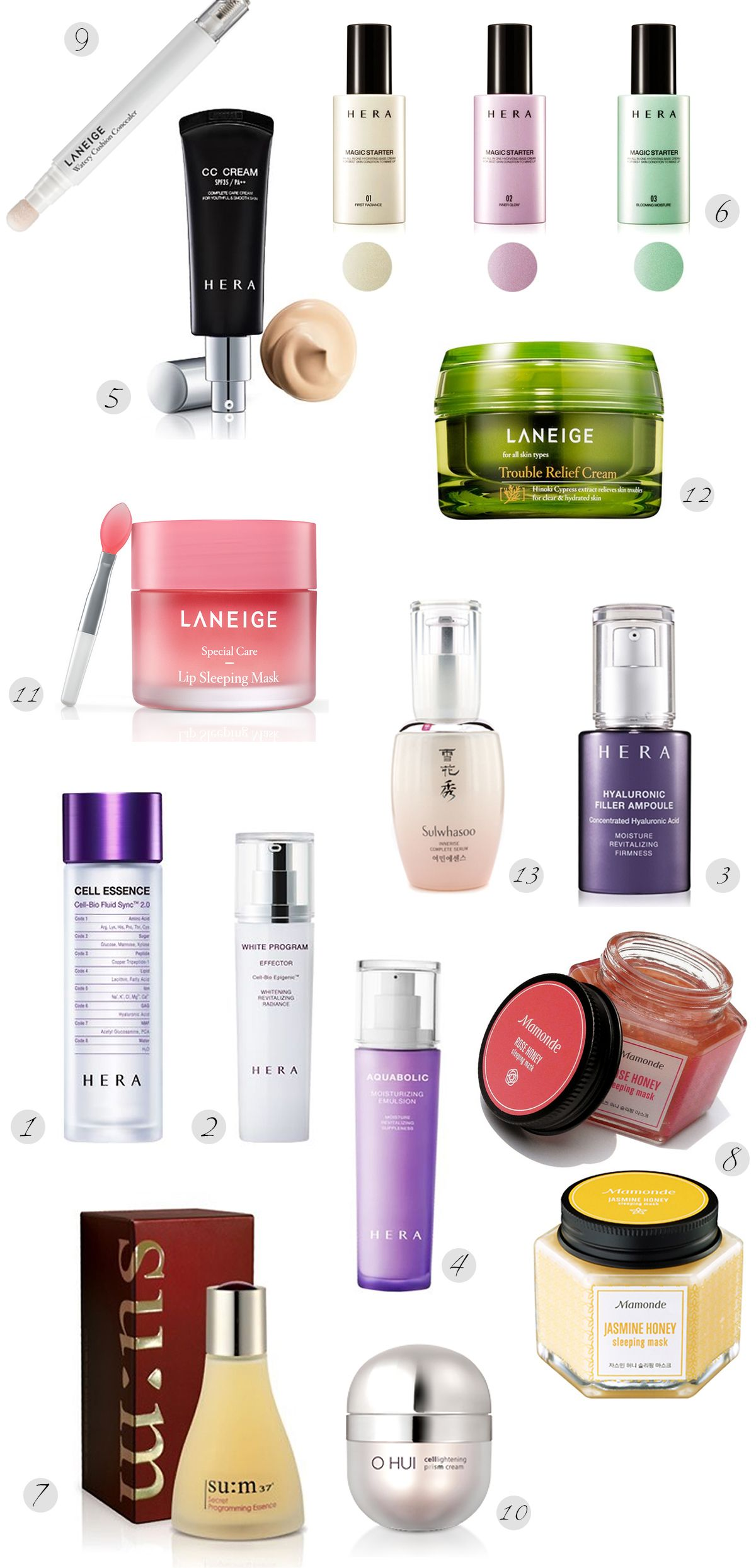 Best Korean products you should try Best korean products