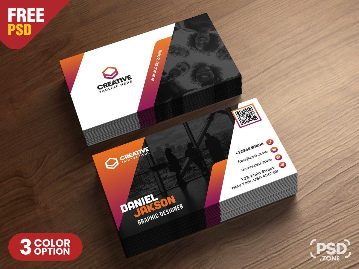 Psd Business Card Design Free Templates Creative Business Card
