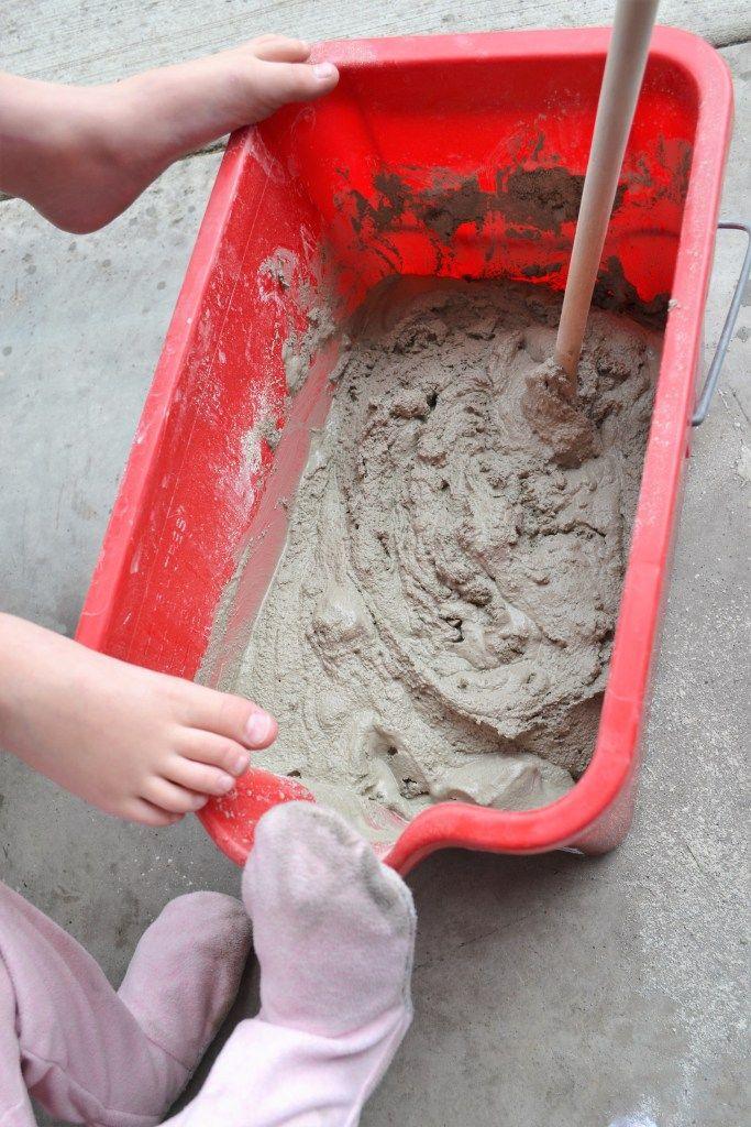 DIY Stepping Stones Kids Footprint Keepsakes With DIY