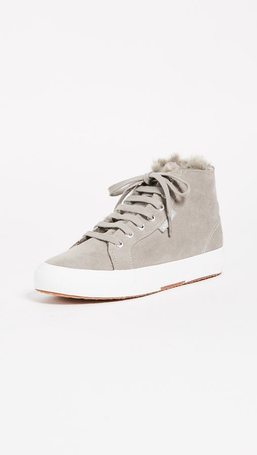80fb48e87f Superga 2795 Sherpa Lined High Top Sneakers. Sherpa lining adds a ...
