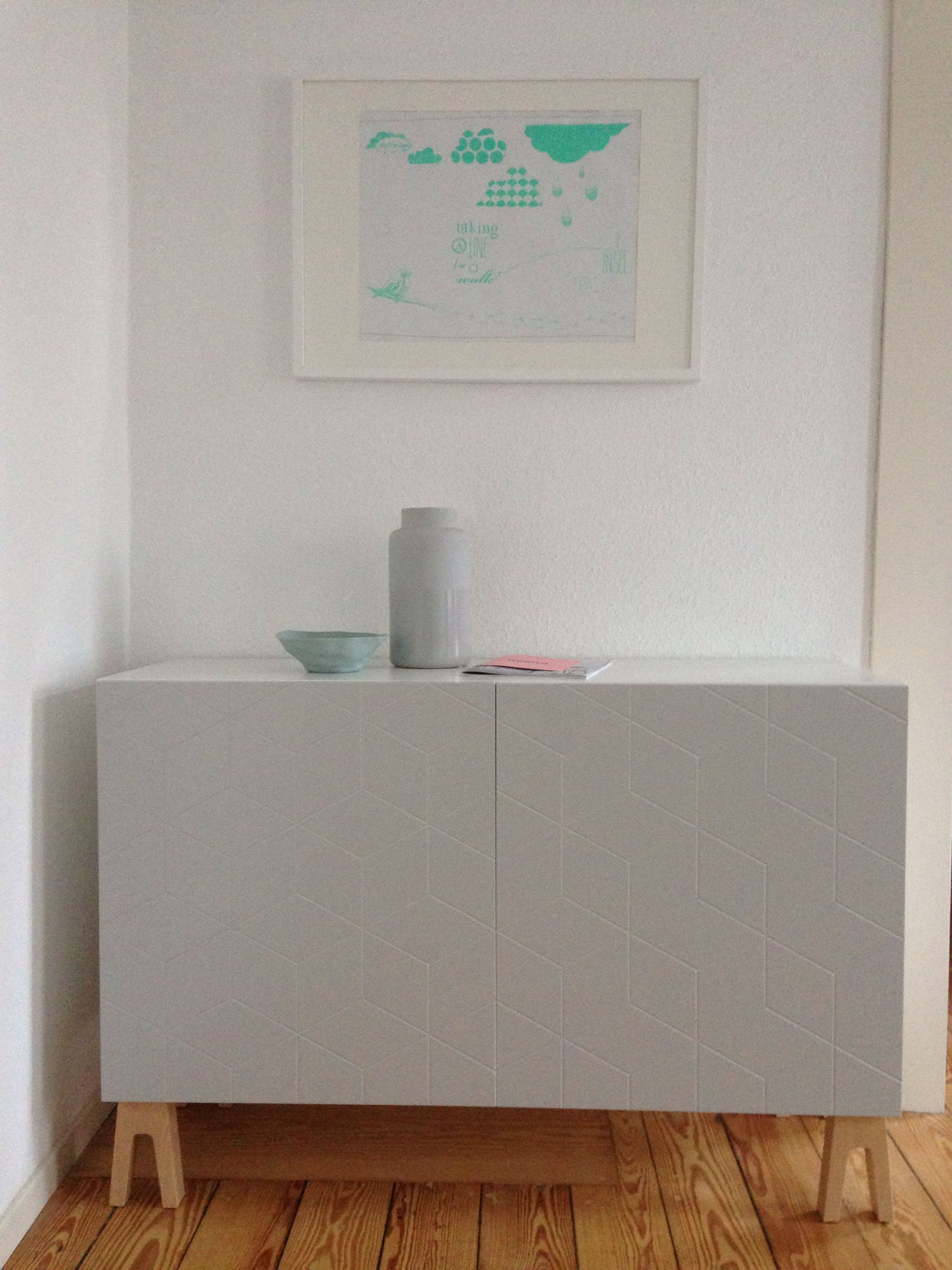 This is my ikea besta cabinet with for Besta sideboard