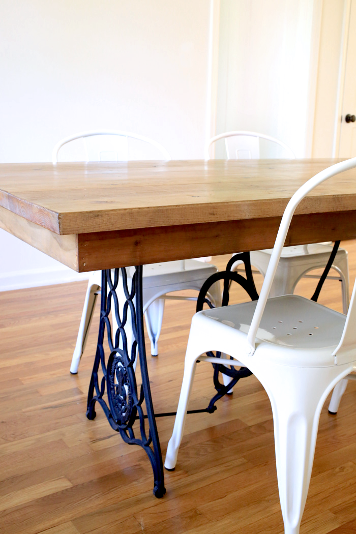 Beautiful Dining Room Table Made From Old Singer Sewing Machine