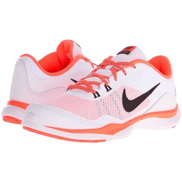Nike Flex Trainer 5 (White/Bright Mango/Black) Women's Cross Training.