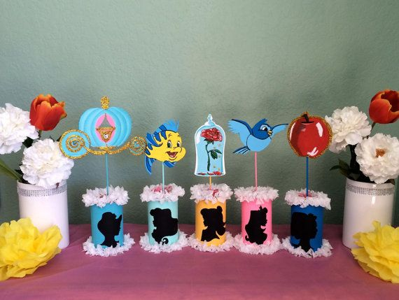 Disney Princesses Centerpieces By Sweetdecorz On Etsy