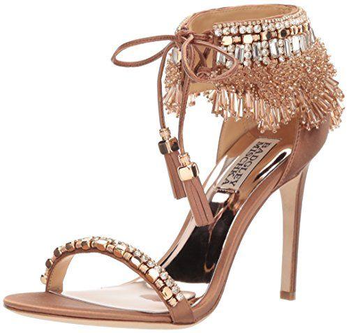 bcc5d7c363f1 Badgley Mischka Women s Katrina Heeled Sandal. Luminescent beading ...