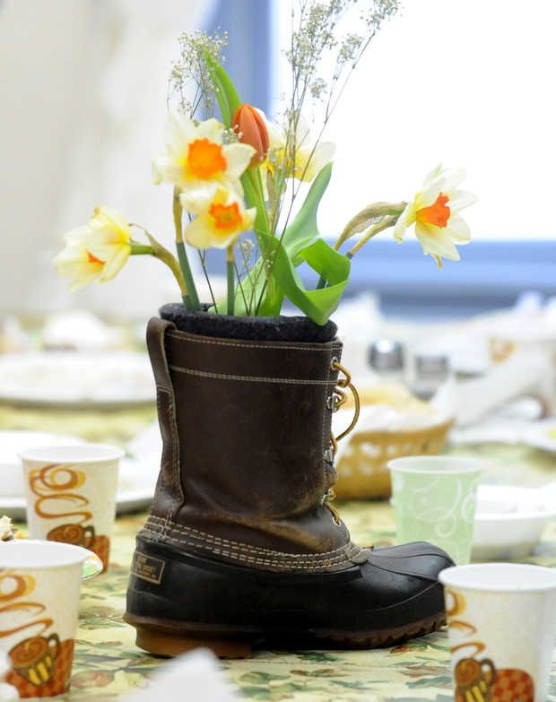 Bean Boot centerpiece via Lewiston Sun Journal article ...