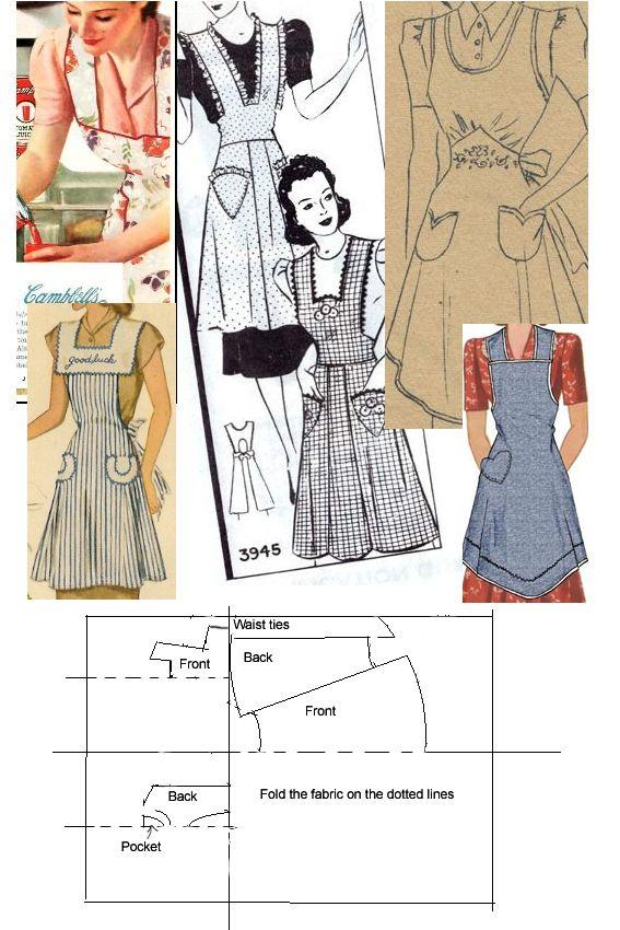 1940s pinny instructions by *Janes-Wardrobe