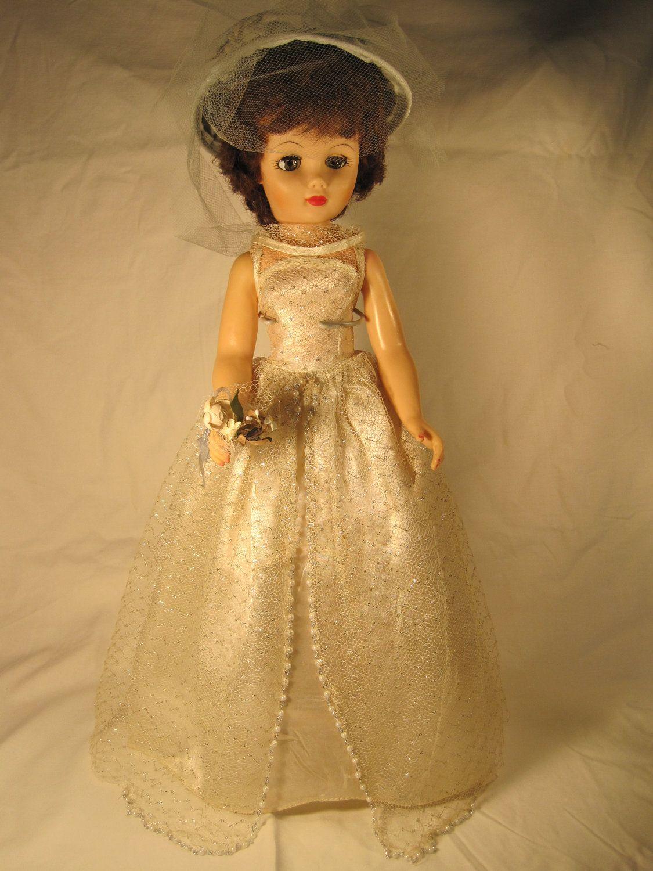1950 S Vintage Bride Doll Muñecas