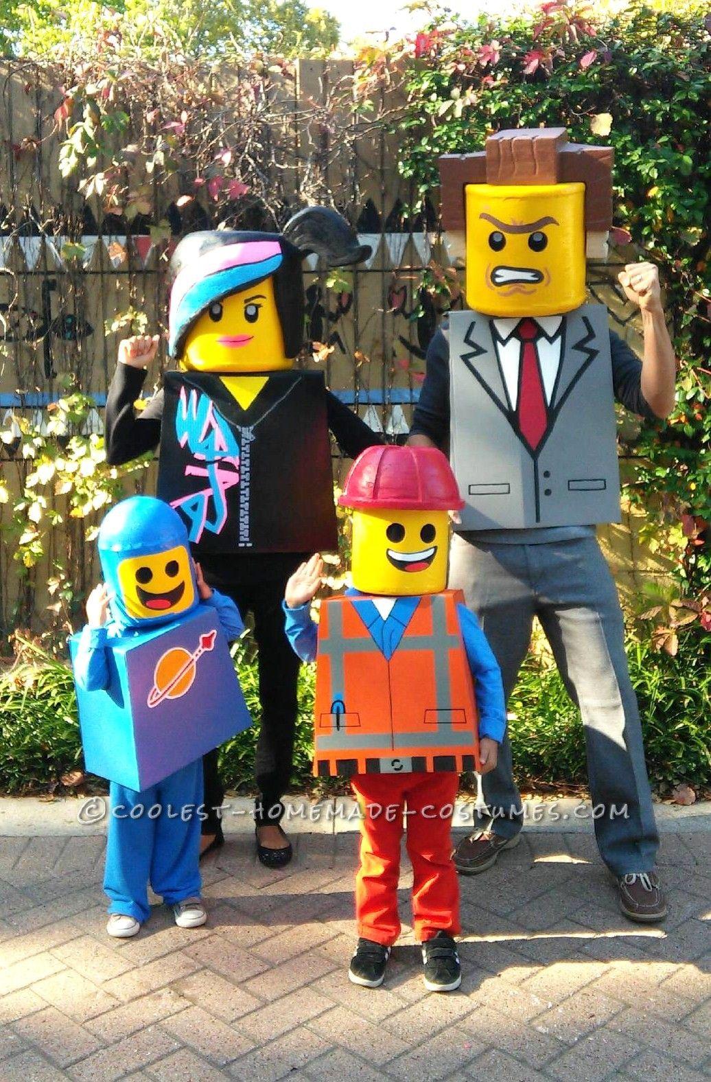 Amazing Family Themed Lego Movie Costumes! | Lego movie costume ...