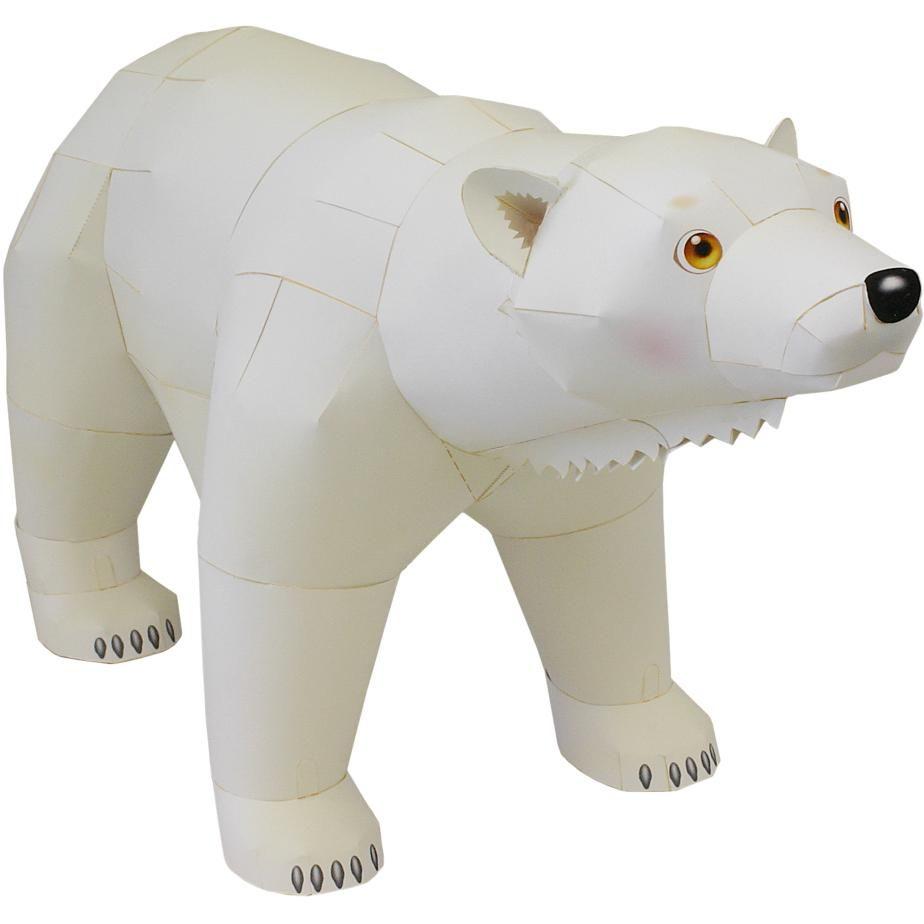 Polar bearanimalspaper craftnorth polewhitemammals polar bearanimalspaper craftnorth polewhitemammals endangered jeuxipadfo Image collections